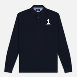 Мужской лонгслив Hackett New Classic LS Polo Navy фото- 0