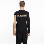 Мужской лонгслив Helmut Lang Band Logo Black/Camel фото- 5