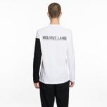 Мужской лонгслив Helmut Lang Band Logo White/Black фото- 5