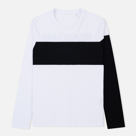 Мужской лонгслив Helmut Lang Band Logo White/Black