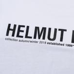 Мужской лонгслив Helmut Lang Band Logo White/Black фото- 3
