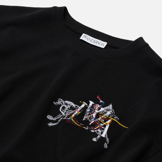 Мужской лонгслив JW Anderson Camelot Embroidery Black