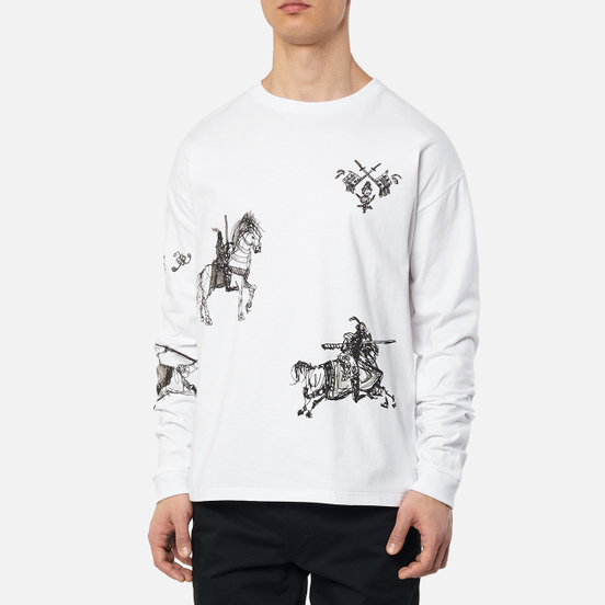 Мужской лонгслив JW Anderson Camelot Printed White