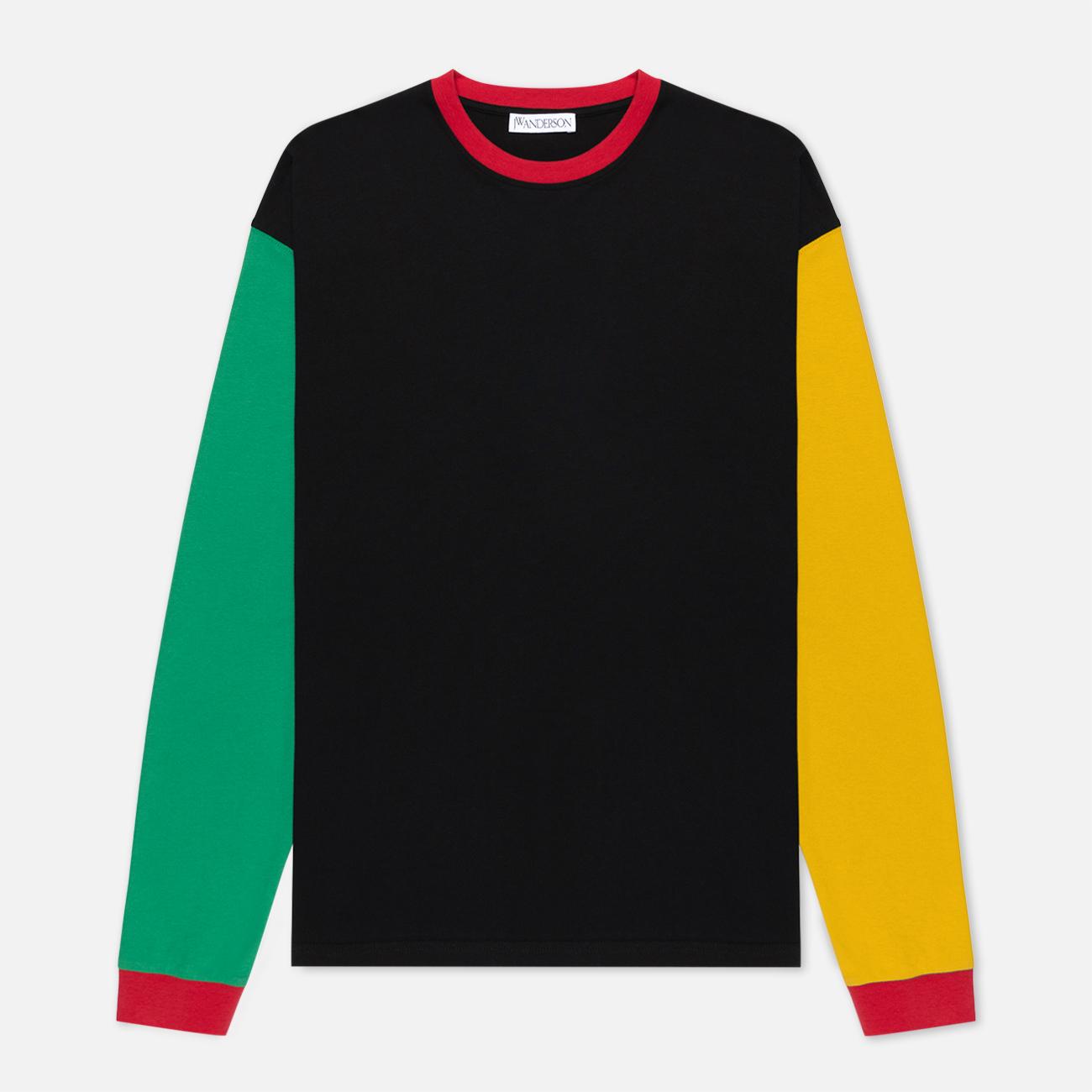 Мужской лонгслив JW Anderson Colourblock Black/Green/Yellow