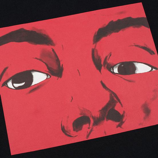 Мужской лонгслив JW Anderson Eyes Printed Black