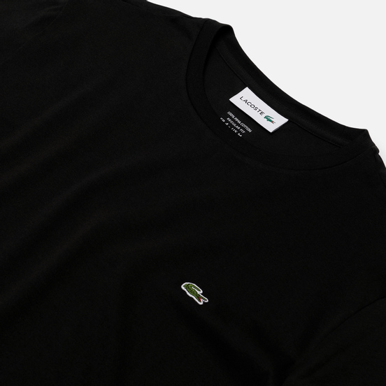 Мужской лонгслив Lacoste Crew Neck Pima Cotton Black