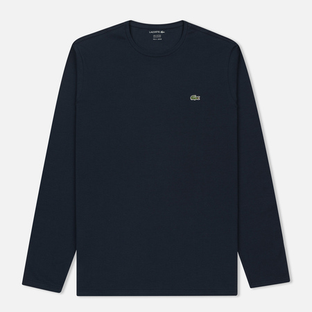 Мужской лонгслив Lacoste Crew Neck Pima Cotton Navy Blue