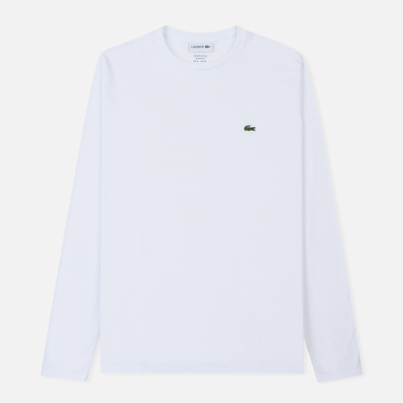 Мужской лонгслив Lacoste Crew Neck Pima Cotton White