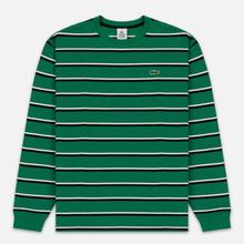 Мужской лонгслив Lacoste Live Crew Neck Striped Cotton Green/Black/White фото- 0