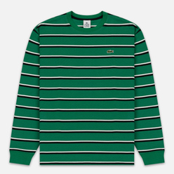 Мужской лонгслив Lacoste Live Crew Neck Striped Cotton Green/Black/White