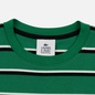 Мужской лонгслив Lacoste Live Crew Neck Striped Cotton Green/Black/White фото - 1