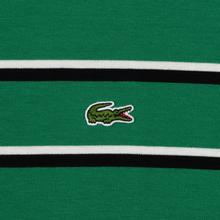Мужской лонгслив Lacoste Live Crew Neck Striped Cotton Green/Black/White фото- 2