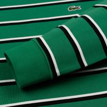 Мужской лонгслив Lacoste Live Crew Neck Striped Cotton Green/Black/White фото- 3