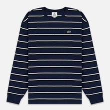 Мужской лонгслив Lacoste Live Crew Neck Striped Cotton Navy Blue/White/Black фото- 0