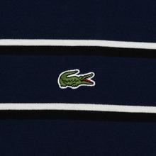 Мужской лонгслив Lacoste Live Crew Neck Striped Cotton Navy Blue/White/Black фото- 2