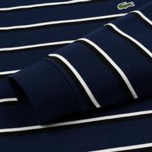 Мужской лонгслив Lacoste Live Crew Neck Striped Cotton Navy Blue/White/Black фото- 3