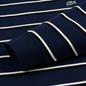 Мужской лонгслив Lacoste Live Crew Neck Striped Cotton Navy Blue/White/Black фото - 3