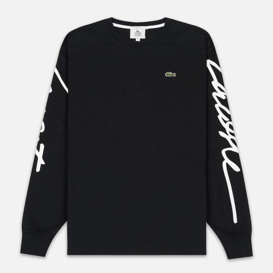Мужской лонгслив Lacoste Live Signature Print Black/White