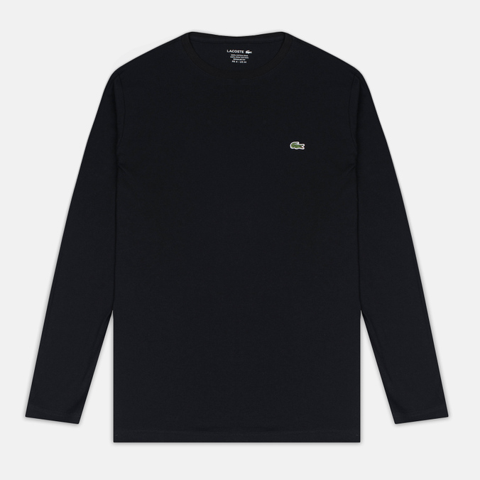 Мужской лонгслив Lacoste Round Neck LS Black