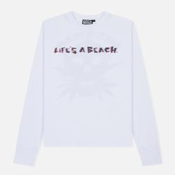 Мужской лонгслив Life's a Beach 3D Deadhead White