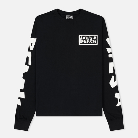 Мужской лонгслив Life's a Beach All Sleeve Logo Black