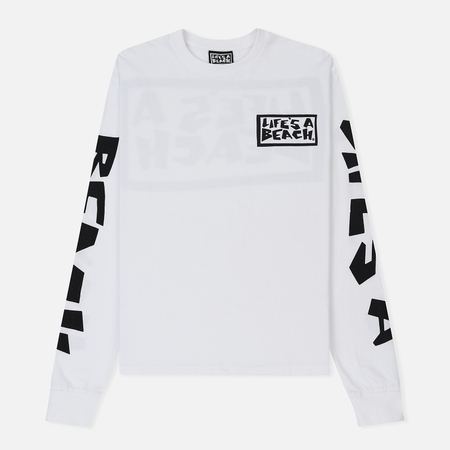 Мужской лонгслив Life's a Beach All Sleeve Logo White
