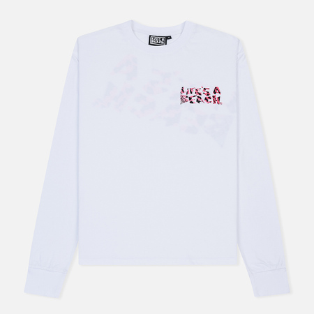 Мужской лонгслив Life's a Beach Wavy Bat Logo White