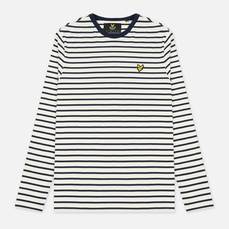 Мужской лонгслив Lyle & Scott Breton Stripe LS Crew Neck Off White