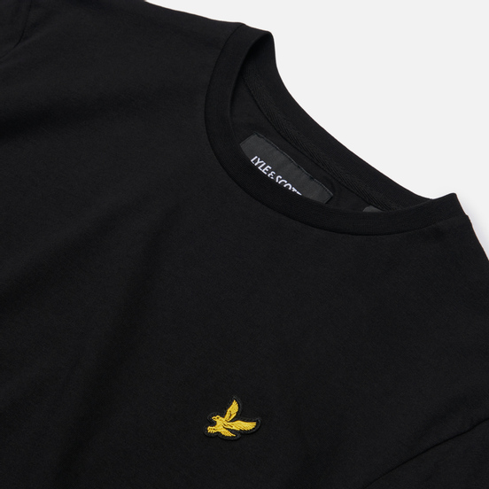 Мужской лонгслив Lyle & Scott Crew Neck Jet Black