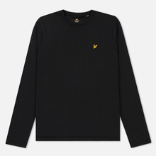 Мужской лонгслив Lyle & Scott Crew Neck True Black фото- 0