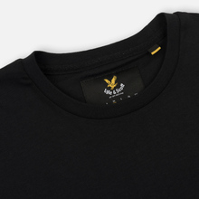 Мужской лонгслив Lyle & Scott Crew Neck True Black фото- 1