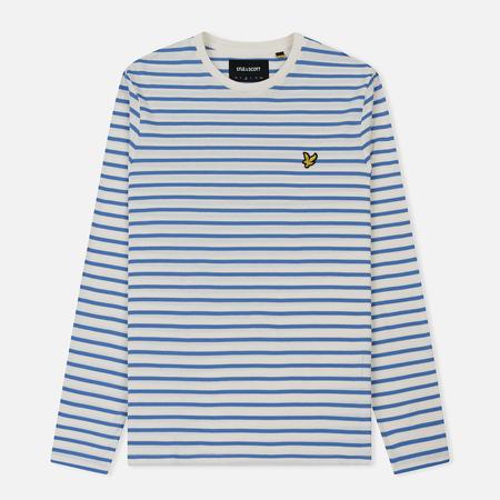 Мужской лонгслив Lyle & Scott LS Breton Stripe Snow White/Cornflower Blue