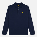 Мужской лонгслив Lyle & Scott LS Polo Navy фото- 0