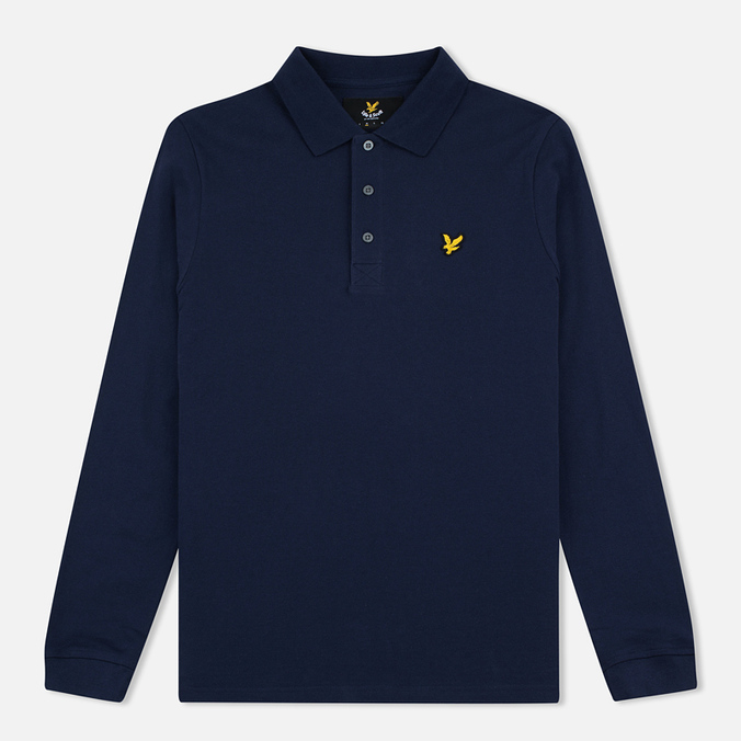 Мужской лонгслив Lyle & Scott LS Polo Navy