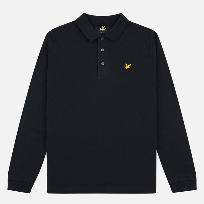 Мужской лонгслив Lyle & Scott LS Polo True Black