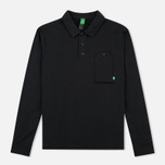 Мужской лонгслив MA.Strum Jersey Pocket Polo Jet Black фото- 0