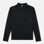 Мужской лонгслив MA.Strum Jersey Pocket Polo Jet Black фото- 0