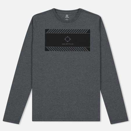 Мужской лонгслив MA.Strum LS Crew Graphic Charcoal Melange
