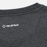 Мужской лонгслив MA.Strum LS Crew Graphic Charcoal Melange фото- 4