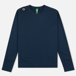 Мужской лонгслив MA.Strum LS Loopback Jersey Crew Dress Blues фото- 0