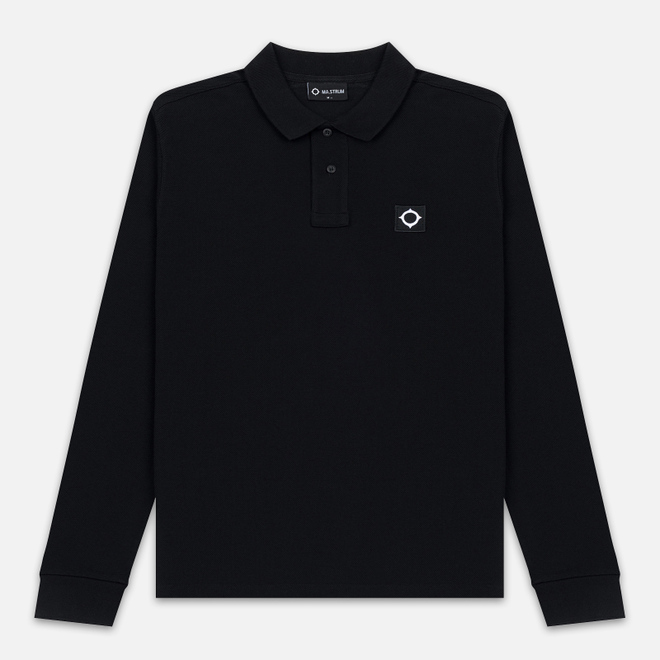 Мужской лонгслив MA.Strum Pique Polo Jet Black