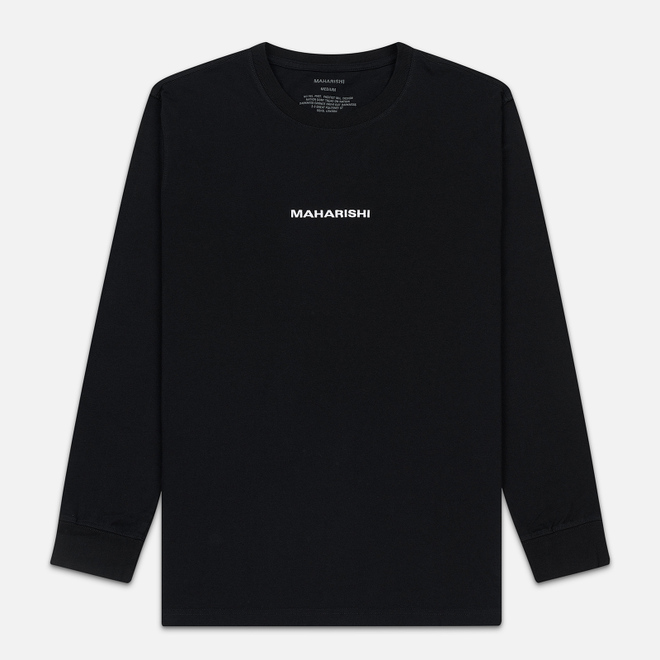 Мужской лонгслив maharishi Organic Military Type Embroidery Black