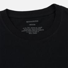 Мужской лонгслив maharishi Organic Military Type Embroidery Black фото- 1