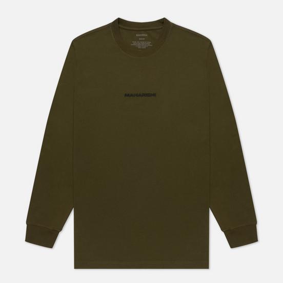 Мужской лонгслив maharishi Organic Military Type Embroidery Military Olive