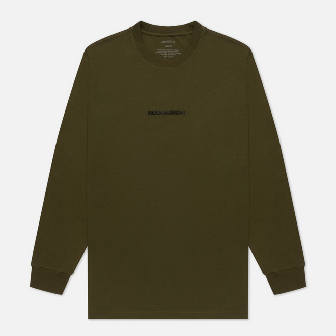 Мужской лонгслив maharishi Organic Military Type Embroidery Military Olive