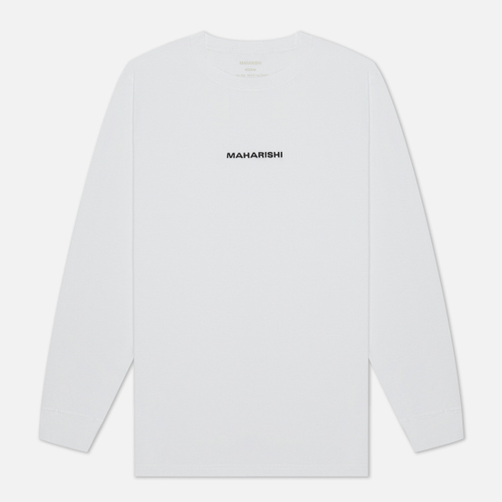Мужской лонгслив maharishi Organic Military Type Embroidery White