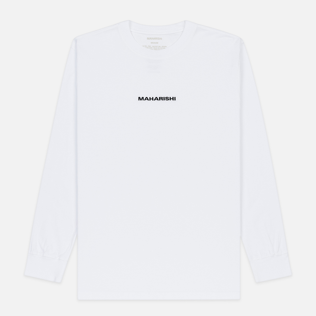 Мужской лонгслив maharishi Organic Military Type Embroidery White
