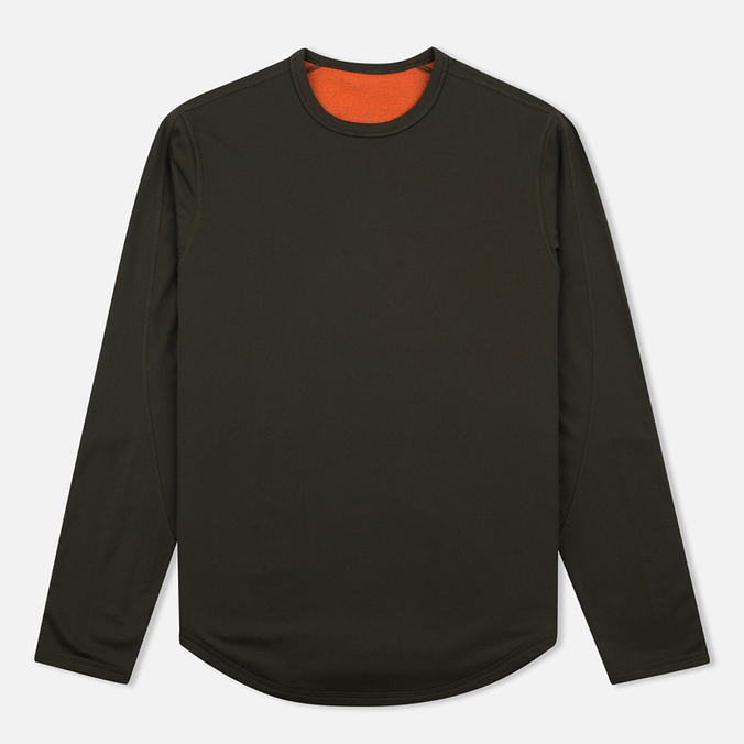 Мужской лонгслив maharishi Reversible Top Olive/Orange