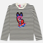Мужской лонгслив Maison Kitsune Marin Acide Fox Black/White фото - 0