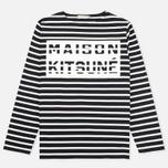 Мужской лонгслив Maison Kitsune Marin Black Ecru фото- 0